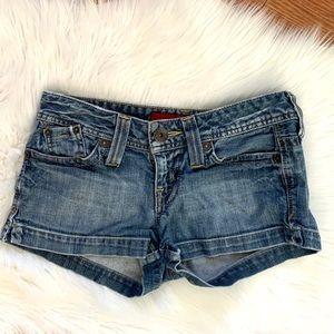"Guess stretch 5 pocket ""81"" short shorts"